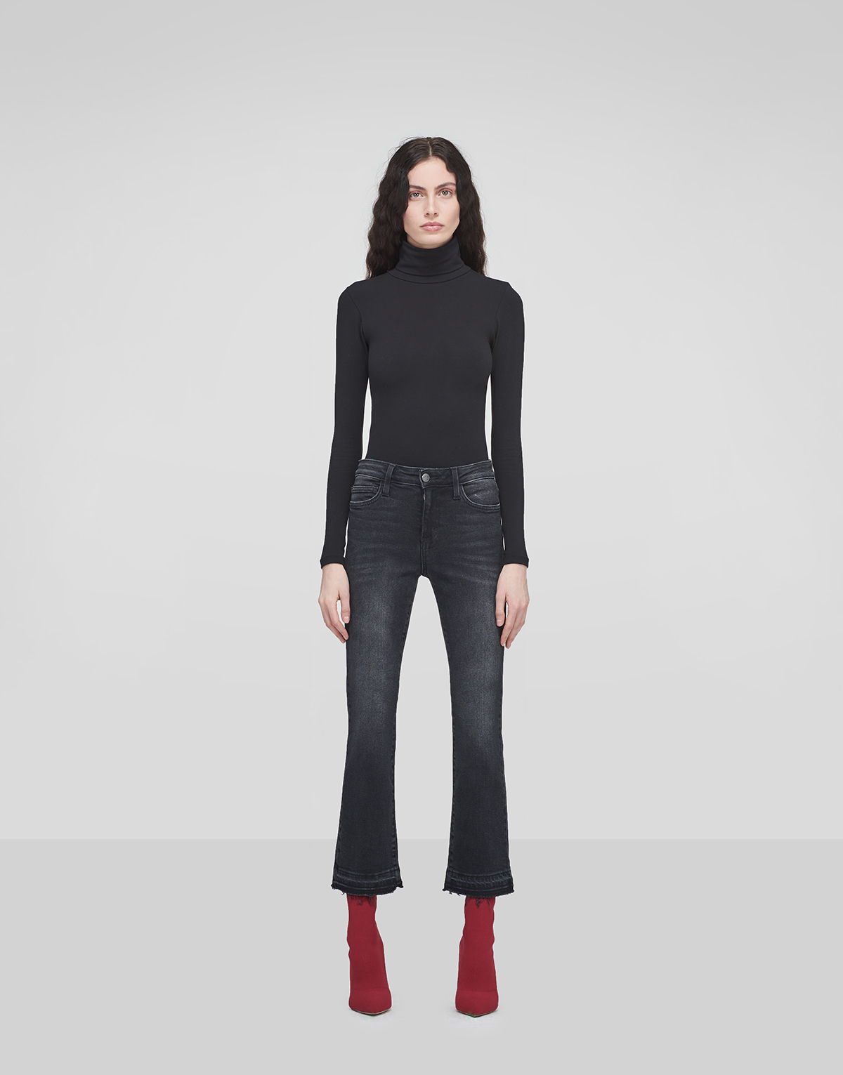 Winter Flared Cropped Jeans