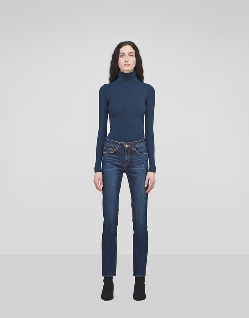 Winter Cozy Straight Indigo Jeans
