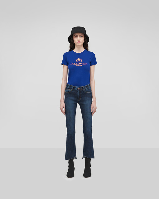 Highrise Unbalanced Jeans