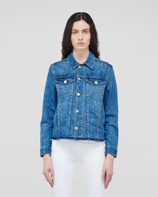 Edge Cutting Denim Jacket_Medium Indigo