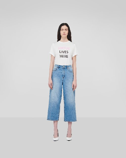 Highrise Wide Jeans_Ice Blue