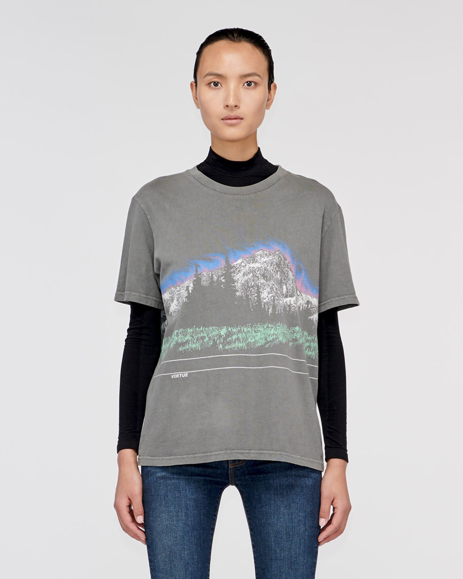"""COLORADO"" MOUNTAIN TEE GREY"