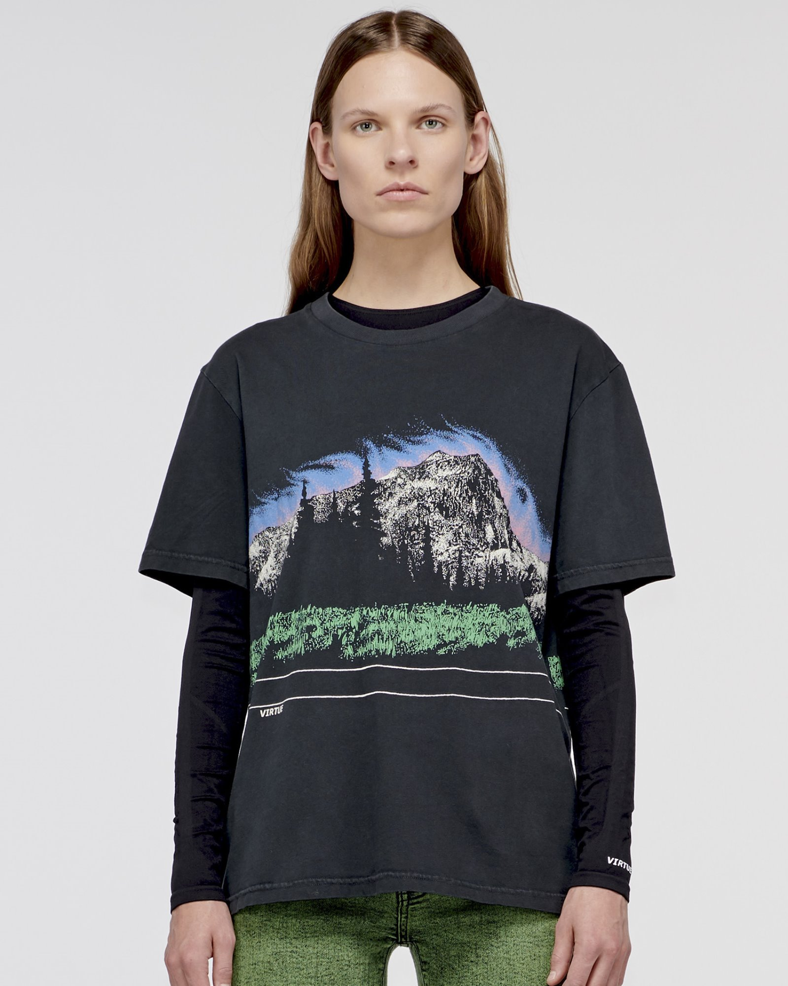 """COLORADO"" MOUNTAIN TEE OFF BLACK"