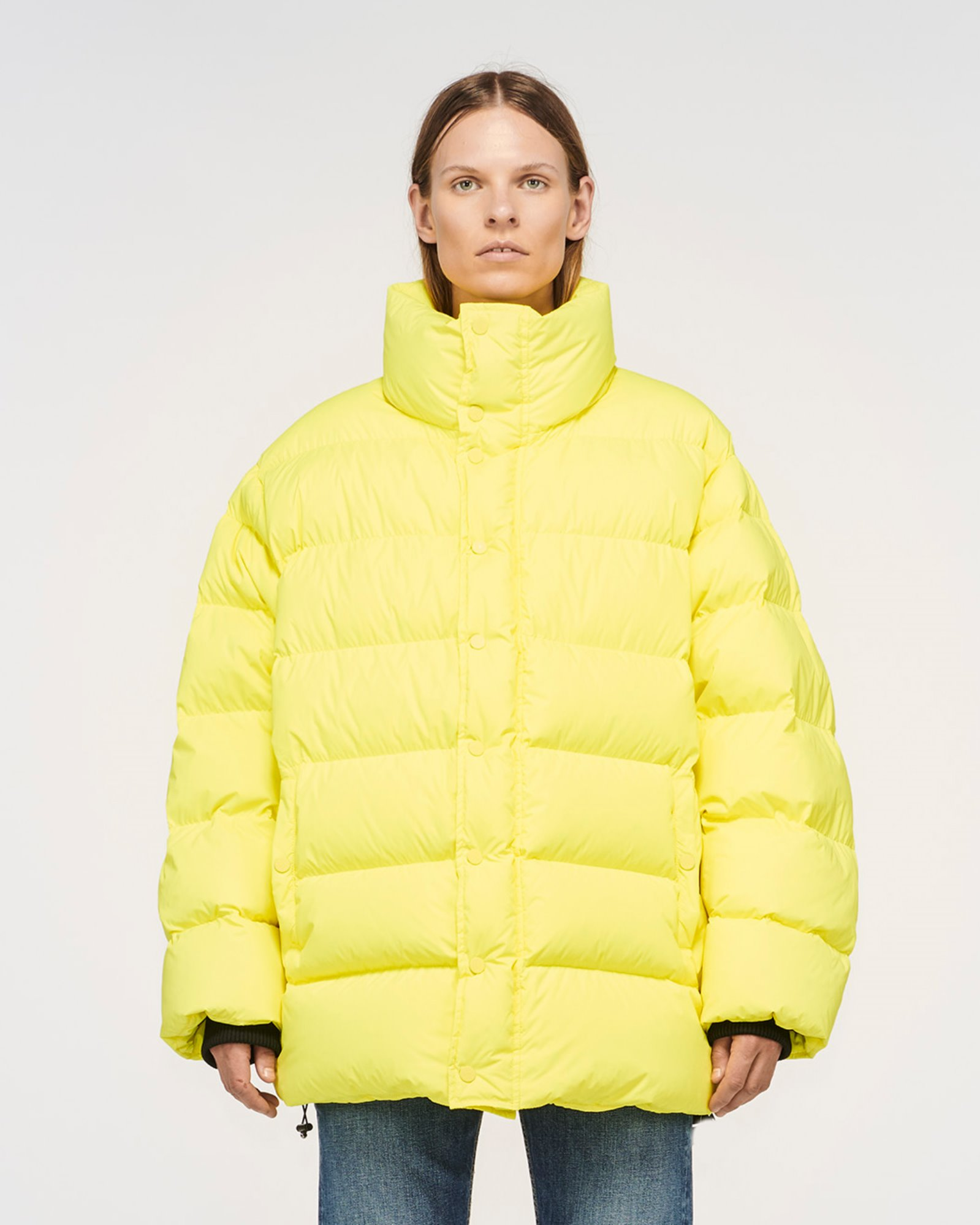 """TOPANGA"" OVERSIZED DOWN JACKET LEMON ZEST"