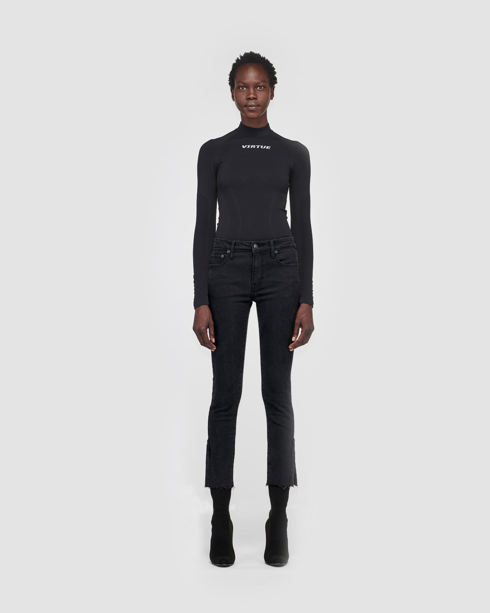 """EMILY"" SPLIT SKINNY BLACKNIGHT"