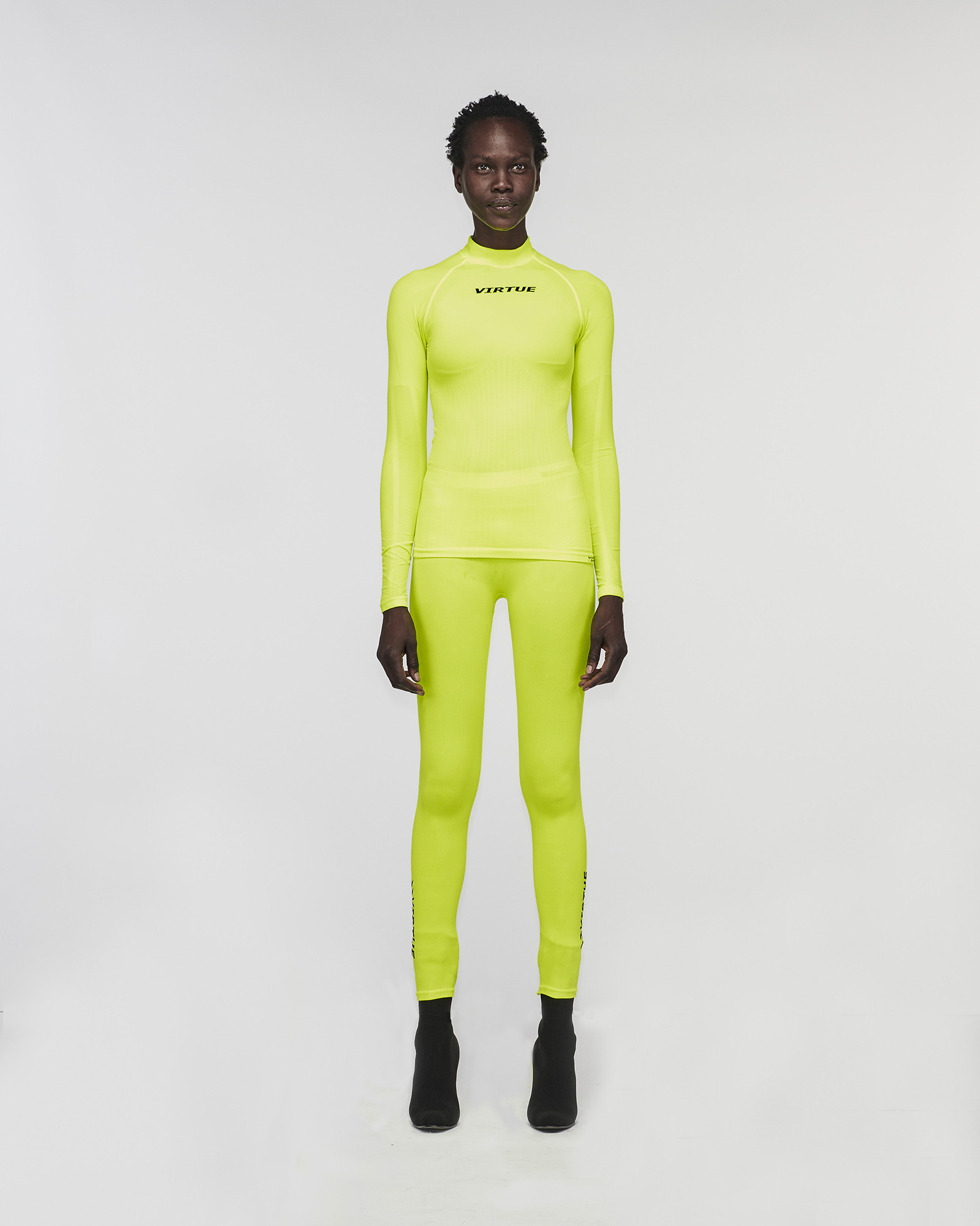"""BEVERLY HILLS"" SEAMLESS LEGGING YELLOW FLURO"