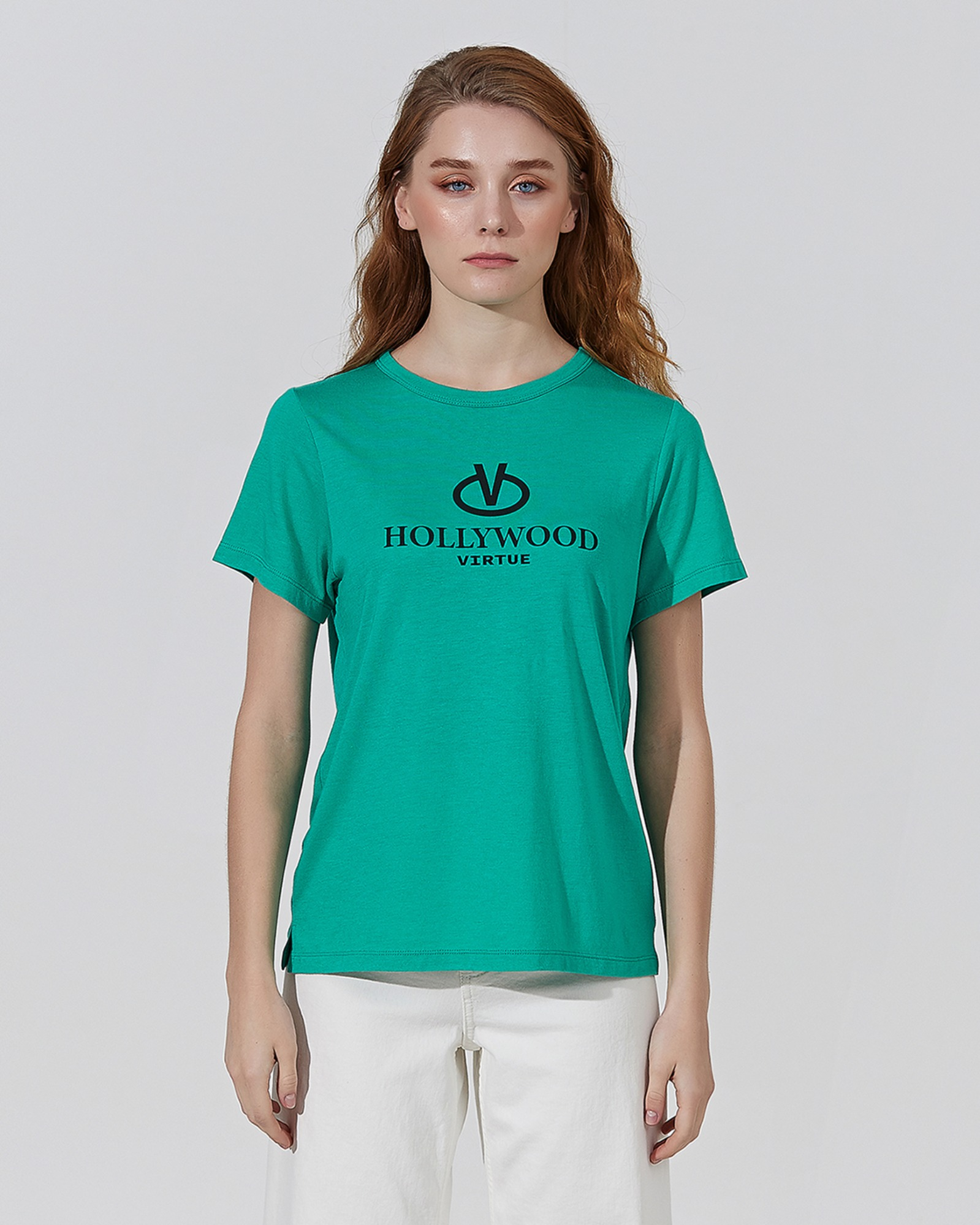 VIRTUE SUPIMA T-SHIRTS VIVID GREEN