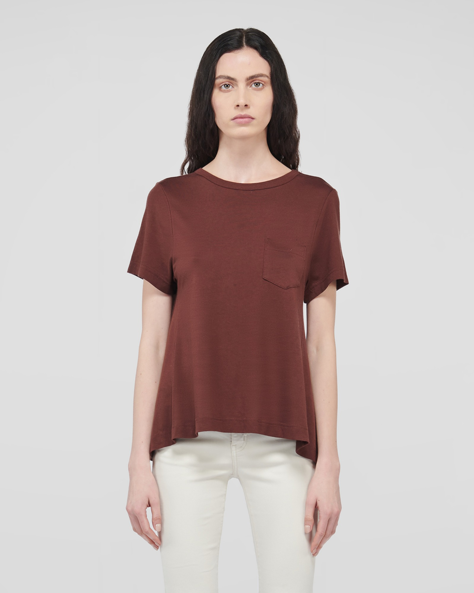 VIRTUE SUPIMA T-SHIRTS TOFFEE BROWN